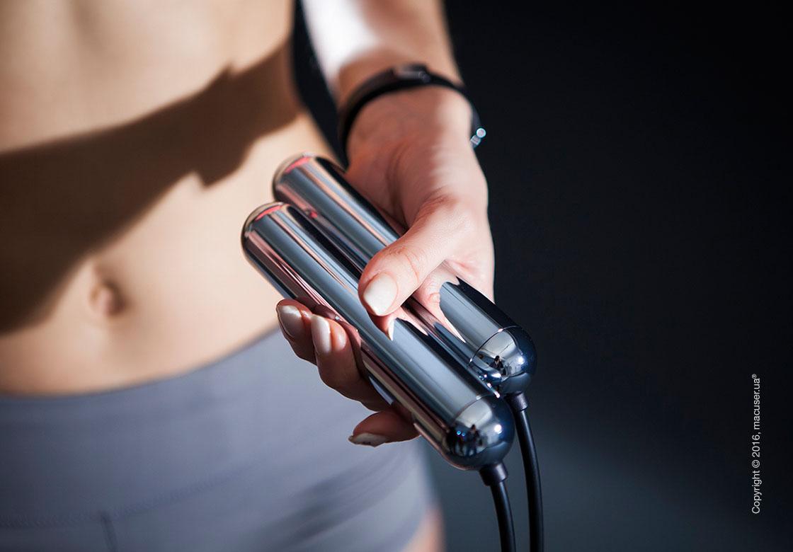 Умная скакалка Tangram Smart Rope, M size, Chrome + силиконовые накладки Neutral Soft Grip