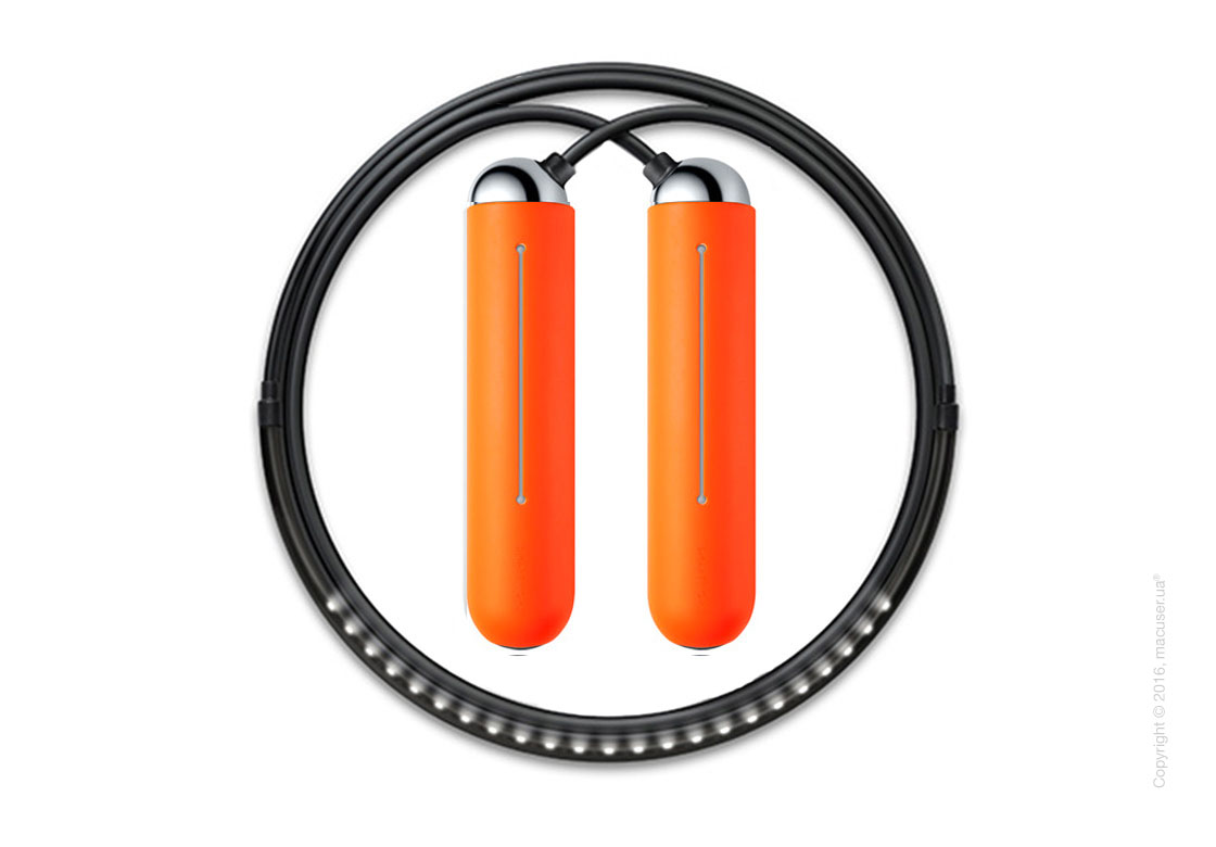 Умная скакалка Tangram Smart Rope, M size, Chrome + силиконовые накладки Orange Soft Grip