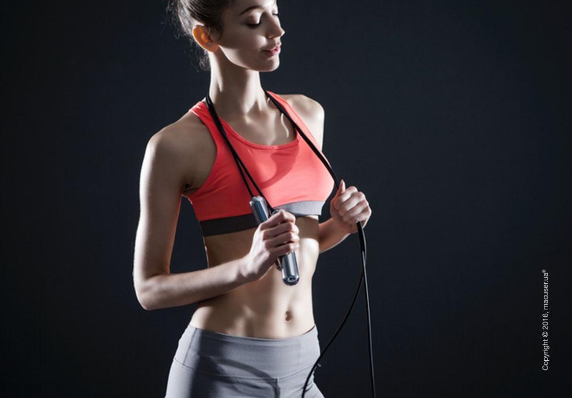 Умная скакалка Tangram Smart Rope, M size, Chrome + силиконовые накладки Pink Soft Grip