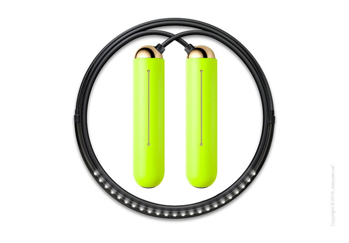 Умная скакалка Tangram Smart Rope, M size, Gold + силиконовые накладки Green Soft Grip