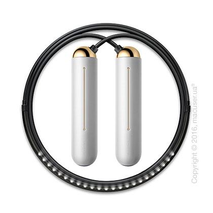 Умная скакалка Tangram Smart Rope, M size, Gold + силиконовые накладки Neutral Soft Grip