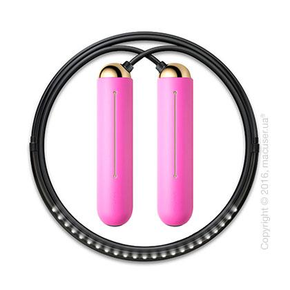 Умная скакалка Tangram Smart Rope, M size, Gold + силиконовые накладки Pink Soft Grip