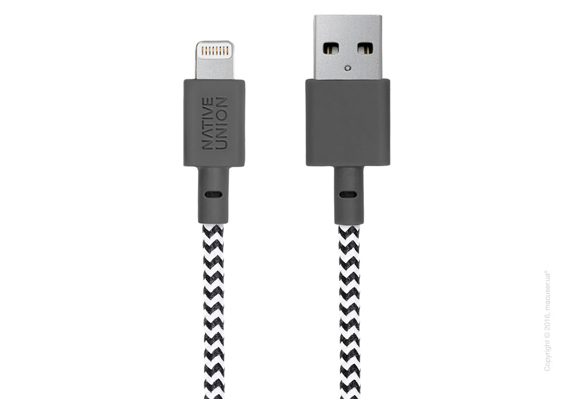 Кабель Native Union Belt Lightning to USB 1.2m – Zebra