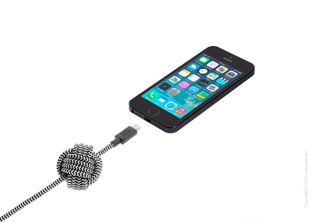 Кабель Native Union Night Cable Lightning to USB 3m – Zebra