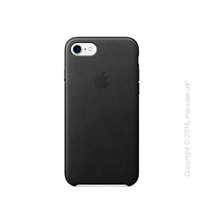 Чехол Apple iPhone 8/7 Leather Case, Black