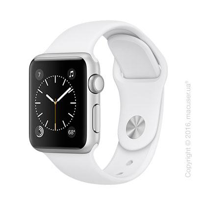 Apple Watch Series 2 38mm Silver Aluminum Case с белым спортивным ремешком