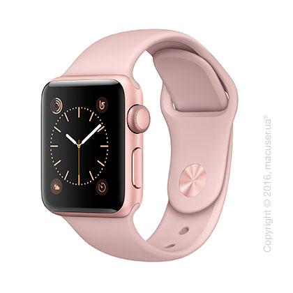 Apple Watch Series 2 38mm Rose Gold Aluminum Case со спортивным ремешком цвета «розовый песок»