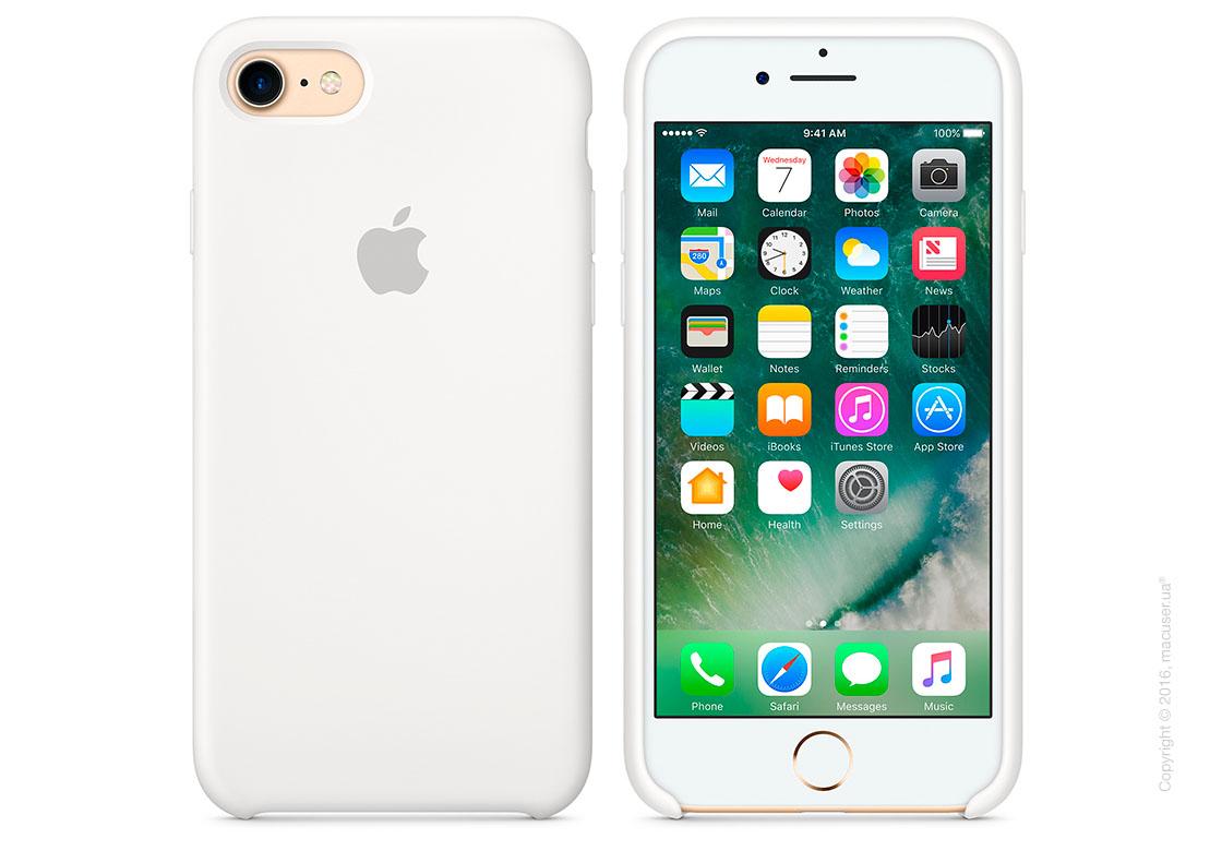Чехол Apple iPhone 8/7 Silicone Case, White