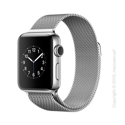 Apple Watch Series 2 38mm Stainless Steel Case с миланским сетчатым браслетом
