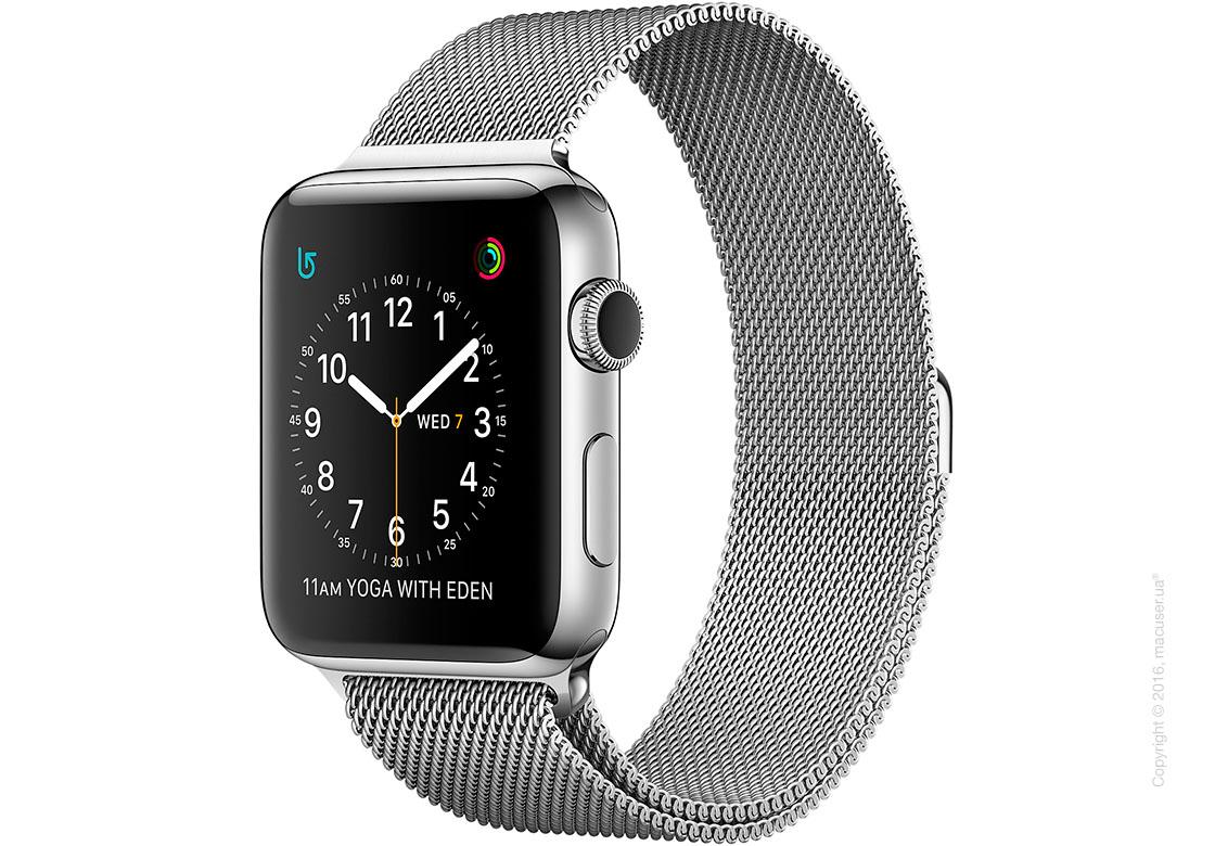 Apple Watch Series 2 42mm Stainless Steel Case с миланским сетчатым браслетом