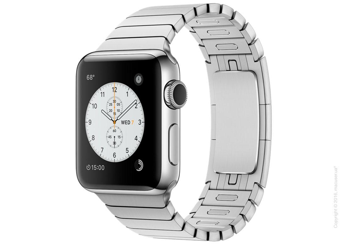 Apple Watch Series 2 38mm Stainless Steel Case с блочным браслетом из нержавеющей стали