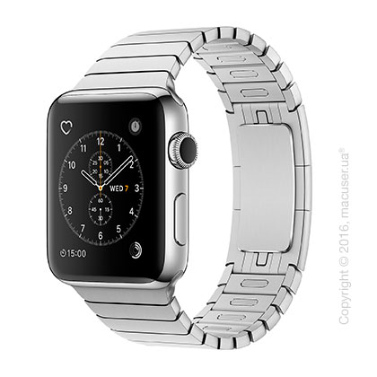 Apple Watch Series 2 42mm Stainless Steel Case с блочным браслетом из нержавеющей стали