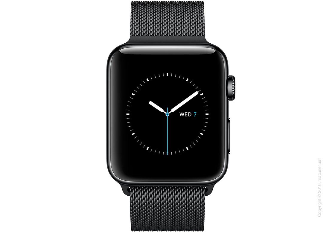 Apple Watch Series 2 38mm Stainless Steel Case с миланским сетчатым браслетом цвета