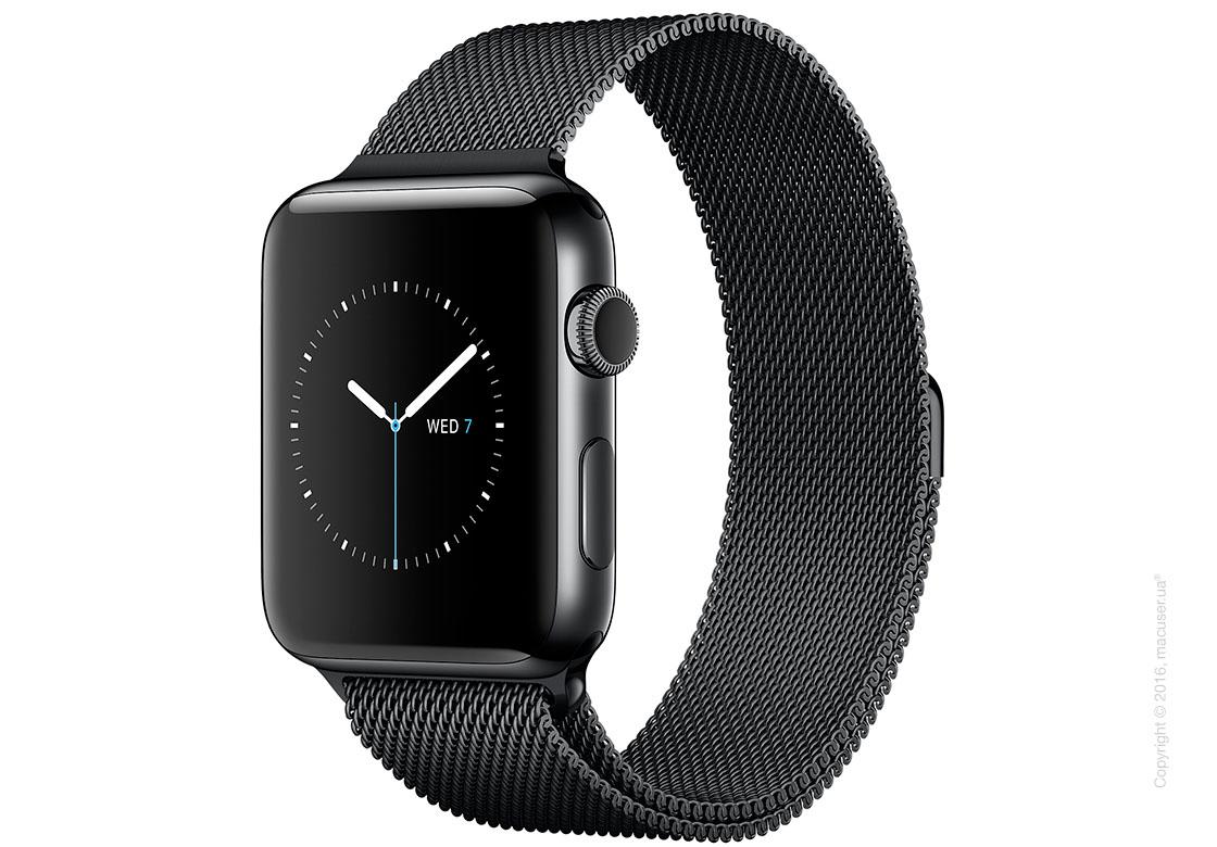 Apple Watch Series 2 42mm Stainless Steel Case с миланским сетчатым браслетом цвета