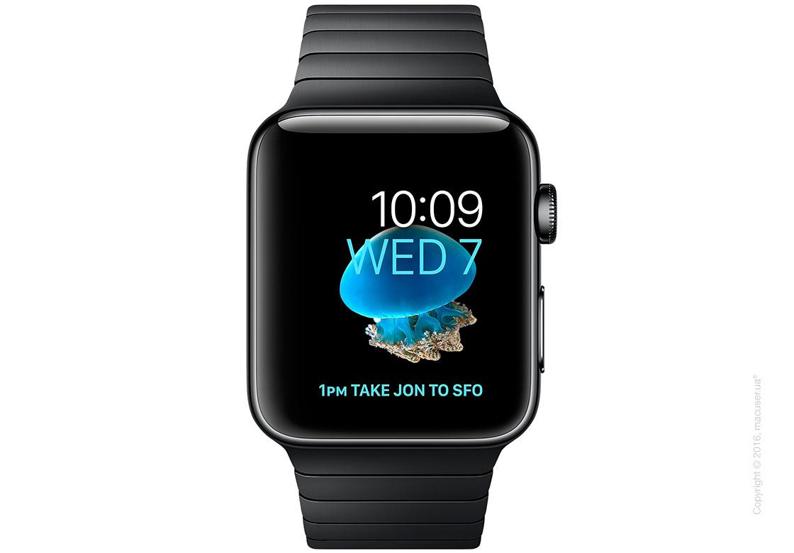 Apple Watch Series 2 38mm Stainless Steel Case с блочным браслетом из нержавеющей стали цвета