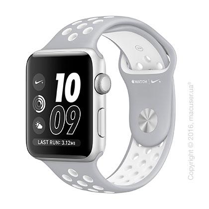 Apple Watch Nike+ 42mm Silver Aluminum Case со спортивным ремешком Nike цвета «листовое серебро/белый»