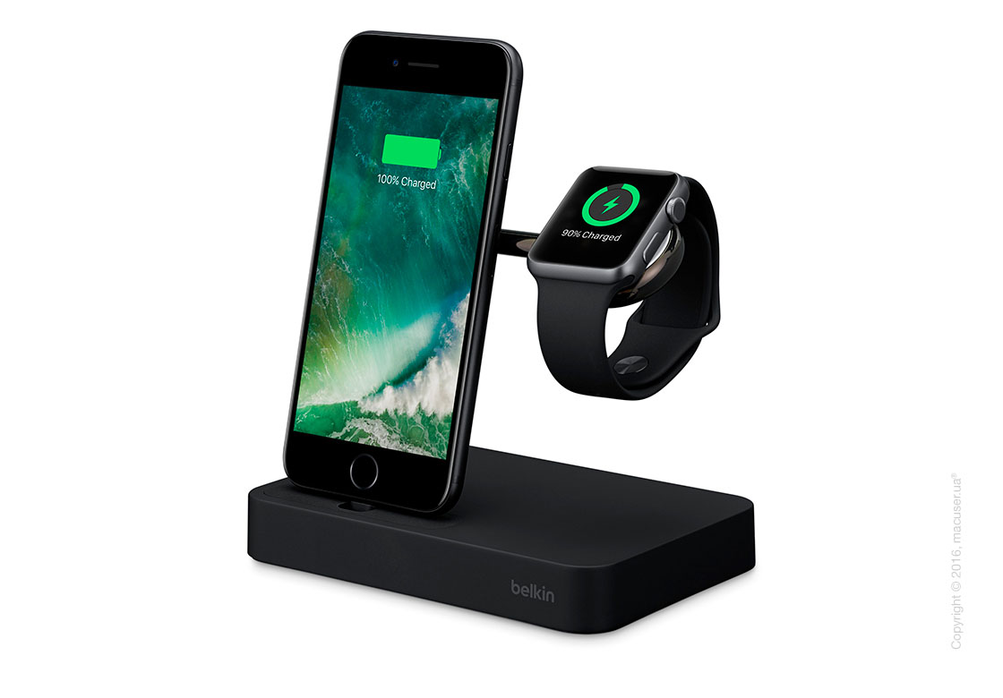 Док-станция Belkin Valet Charge Dock for Apple Watch + iPhone, Black