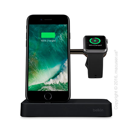 Док-станция Belkin Valet Charge Dock for Apple Watch + iPhone, Black