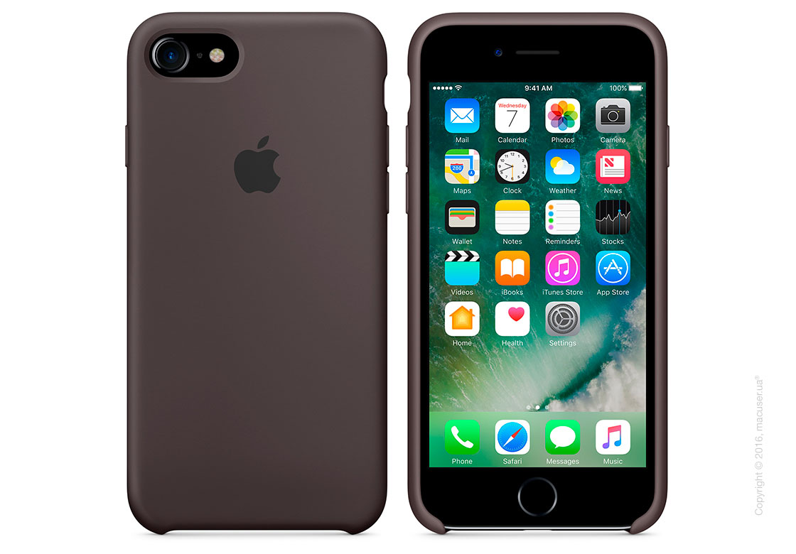 Чехол Apple iPhone 8/7 Silicone Case, Cocoa