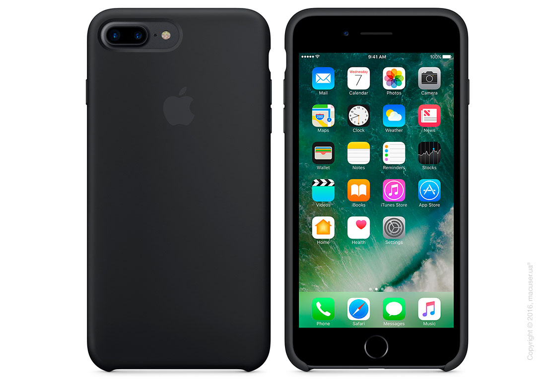 Чехол Apple iPhone 8 Plus/7 Plus Silicone Case, Black
