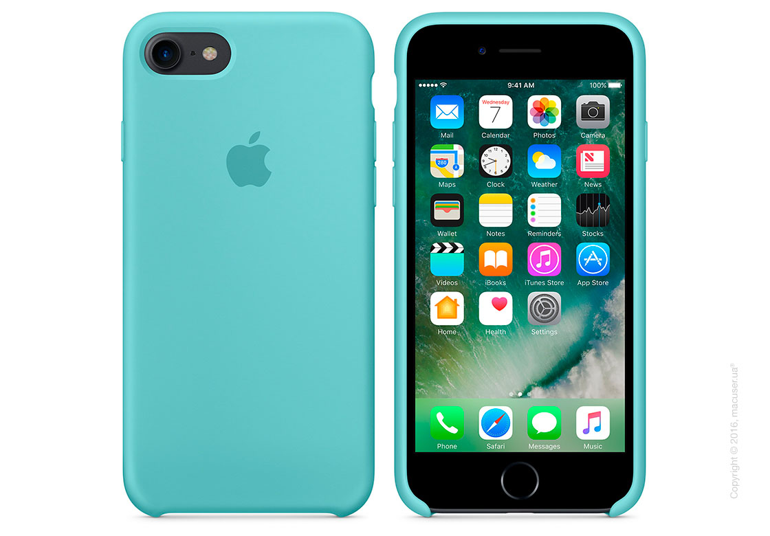 Чехол Apple iPhone 8/7 Silicone Case, Sea Blue