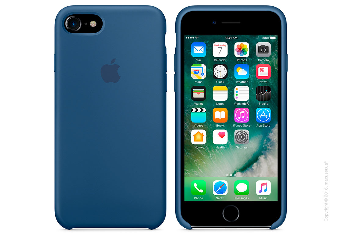 Чехол Apple iPhone 8/7 Silicone Case, Ocean Blue