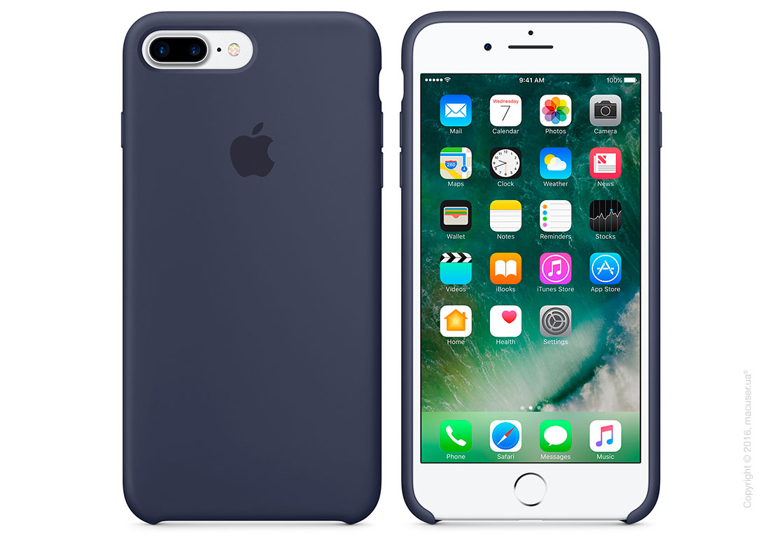 Чехол Apple iPhone 8 Plus/7 Plus Silicone Case, Midnight Blue