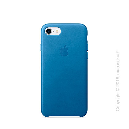 Чехол Apple iPhone 7 Leather Case, Sea Blue