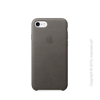 Чехол Apple iPhone 8/7 Leather Case, Storm Gray