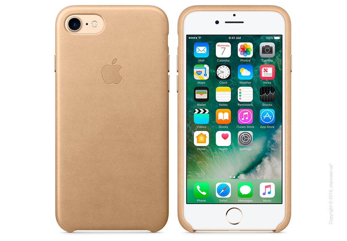 Чехол Apple iPhone 8/7 Leather Case, Tan