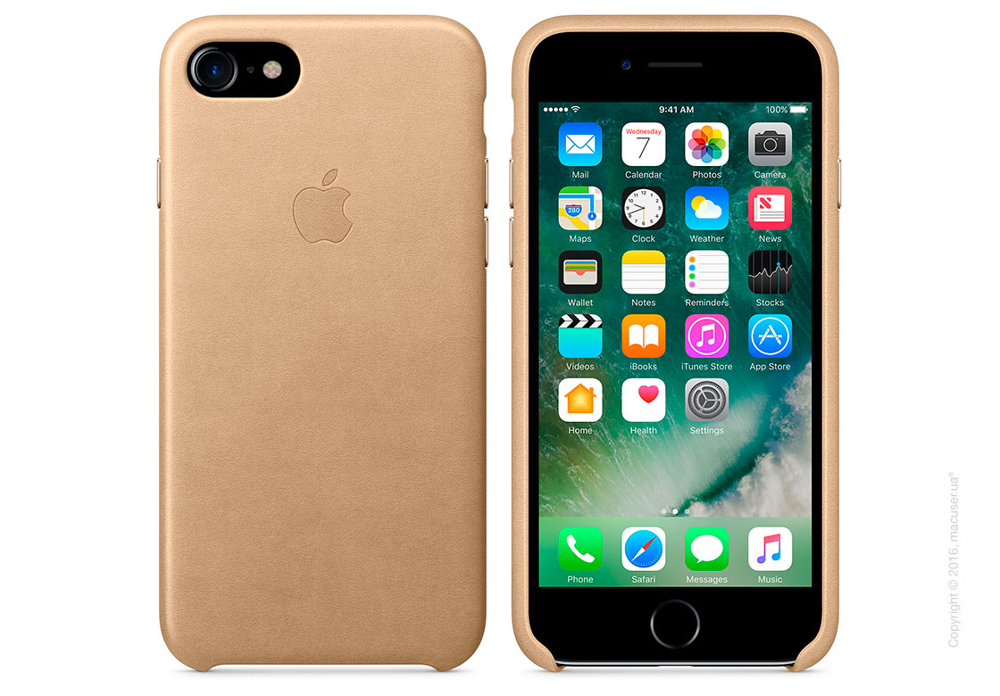 Чехол Apple iPhone 7/8 Leather Case, Tan