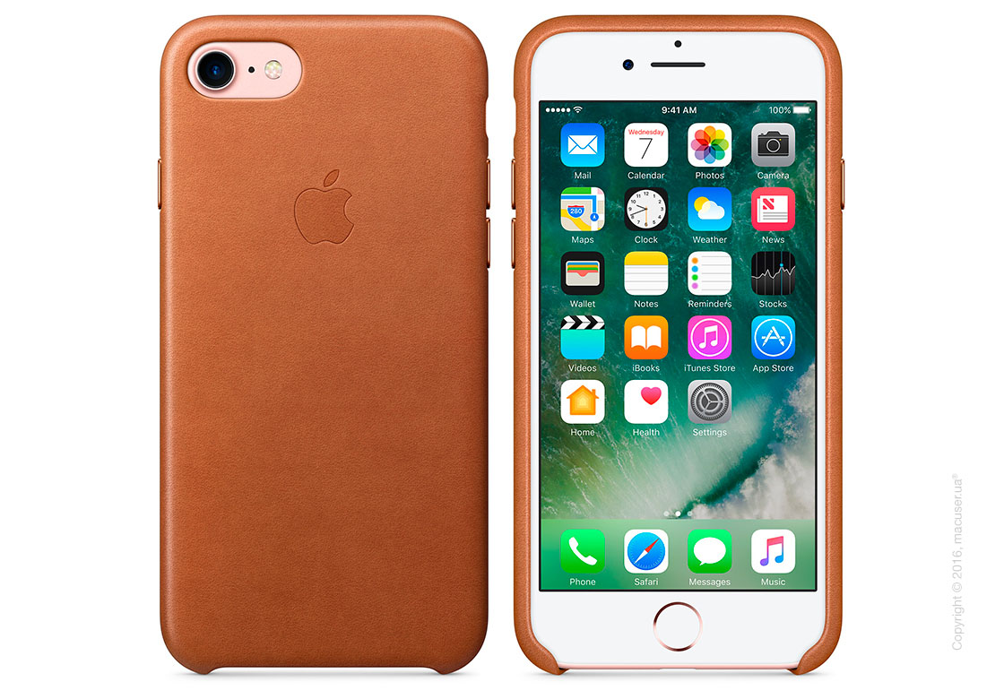 Чехол Apple iPhone 7/8 Leather Case, Saddle Brown
