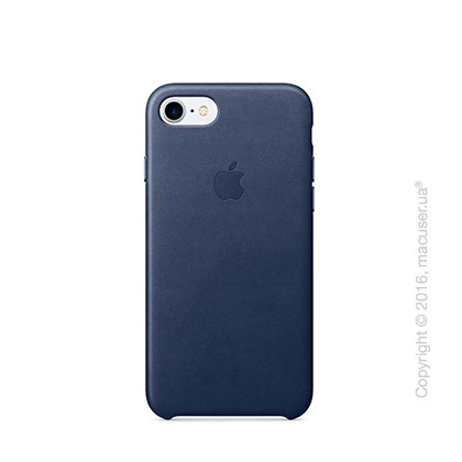 Чехол Apple iPhone 8/7 Leather Case, Midnight Blue