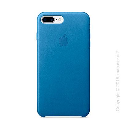 Чехол Apple iPhone 7 Plus Leather Case, Sea Blue