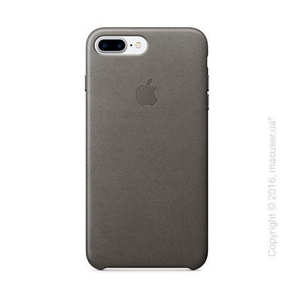 Чехол Apple iPhone 8 Plus/7 Plus Leather Case, Storm Gray