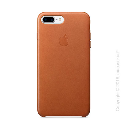 Чехол Apple iPhone 8 Plus/7 Plus Leather Case, Saddle Brown