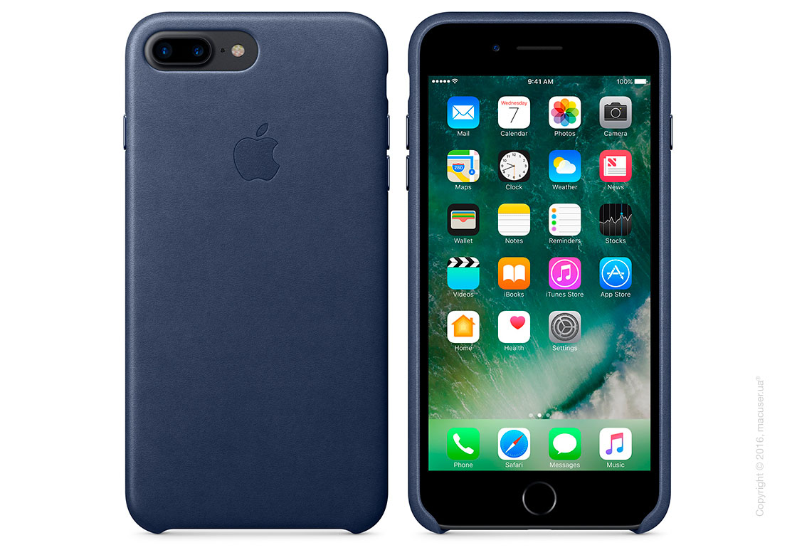 Чехол Apple iPhone 8 Plus/7 Plus Leather Case, Midnight Blue