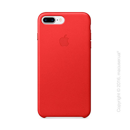 Чехол Apple iPhone 8 Plus/7 Plus Leather Case, (PRODUCT)RED
