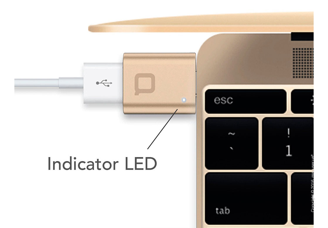 Адаптер nonda USB-C to USB 3.0 Mini Adapter, Gold