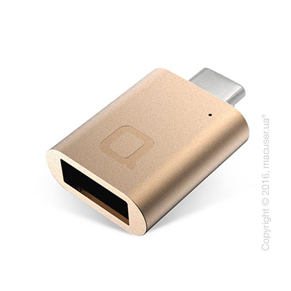Переходник nonda USB-C to USB 3.0 Mini Adapter, Gold