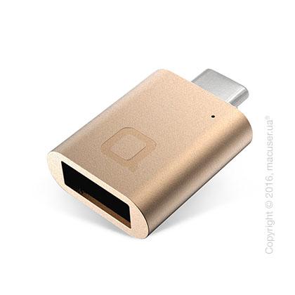 Адаптер nonda USB-C to USB 3.0 Mini Adapter, Gold