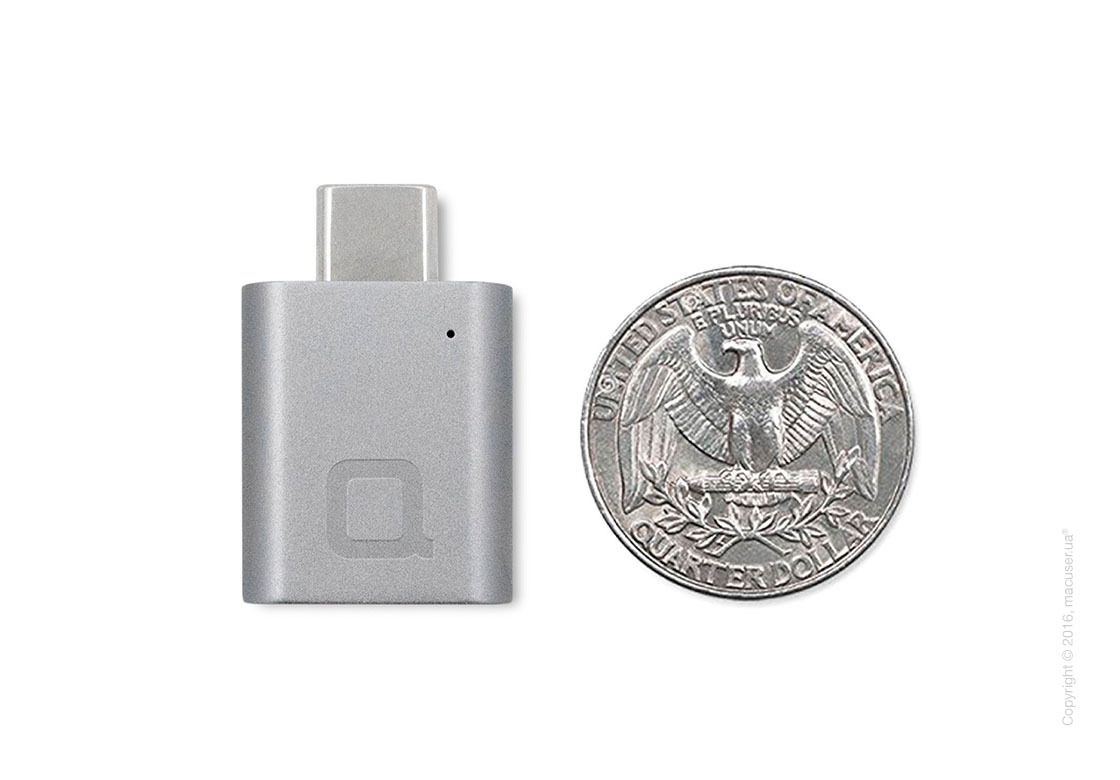 Адаптер nonda USB-C to USB 3.0 Mini Adapter, Space Gray