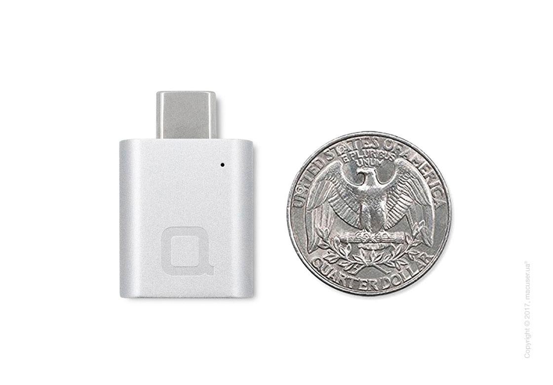 Переходник nonda USB-C to USB 3.0 Mini Adapter, Silver
