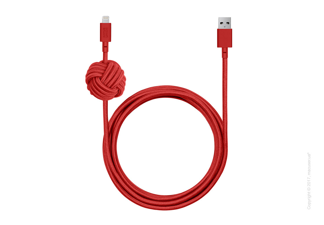Кабель Native Union Night Cable Lightning  to USB 3m RED