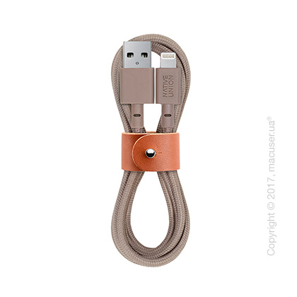 Кабель Native Union BELT Lightning-to-USB 1.2м, Taupe