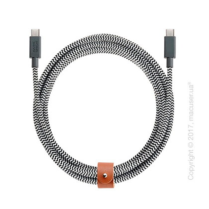 Кабель Native Union Belt USB-C Cable 2.4m – Zebra