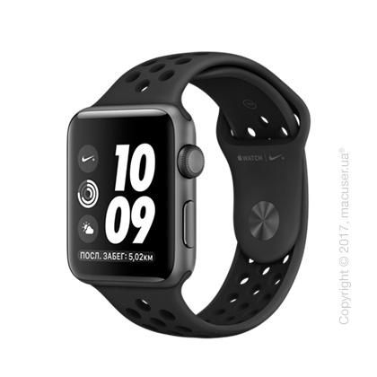 Apple Watch Nike+ 42mm Space Gray Aluminum со спортивным ремешком Nike цвета «антрацитовый/чёрный»