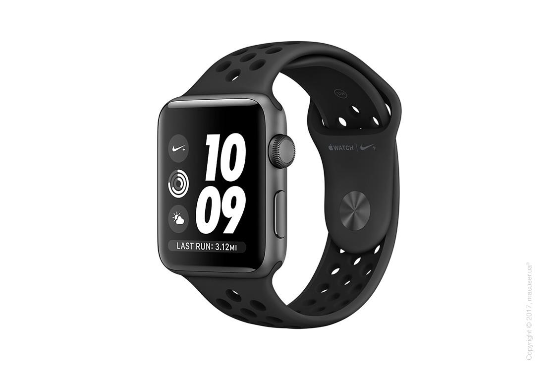 Apple Watch Nike+ 38mm Space Gray Aluminum со спортивным ремешком Nike цвета «антрацитовый/чёрный»