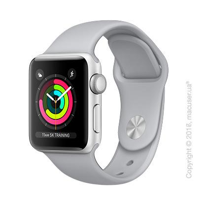 Apple Watch Series 3 GPS 38mm Silver Aluminum Case с дымчатым спортивным ремешком