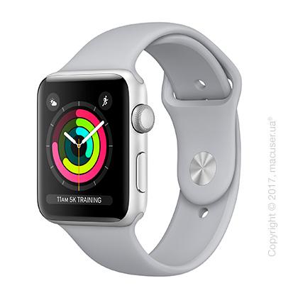 Apple Watch Series 3 GPS 42mm Silver Aluminum Case с дымчатым спортивным ремешком